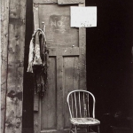 Chair with Sign, East New York, Brooklyn, 1953