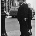 Man Wearing Bowler Hat, Downtown Brooklyn, 1951
