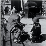 Shoeshine Conversation, NYC, 1949
